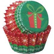 100 Mini Caissettes Cadeau de No�l Wilton (4 cm)