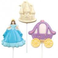 Moule 3 Sucettes Chocolat Princesse Wilton