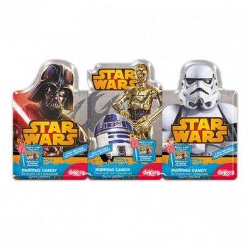3 Sucettes et poudre pétillante Star Wars + sticker