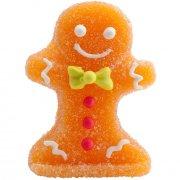 4 D�corations No�l Gingerman en sucre g�lifi�