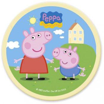 Disque en Chocolat Peppa Pig et George (11 cm)