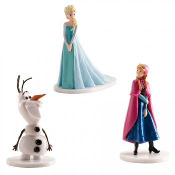 Set Figurines Reine des Neiges, Elsa, Anna, Olaf