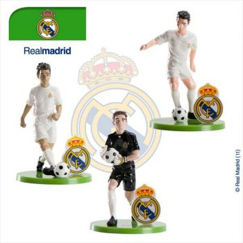 3 figurines foot real madrid pour l 39 anniversaire de votre for Decoration chambre real madrid