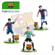 Set 3 Figurines Foot Barca FC Barcelone