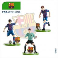 Set 3 Figurines Foot Barca FC Barcelone