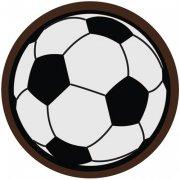 6 Pastilles Ballons Football Chocolat