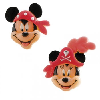 2 Figurines Mickey et Minnie Pirate Gummy