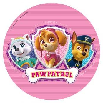 Disque azyme Pat Patrouille Rose
