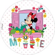 Disque en chocolat Minnie