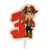 Bougie Pirate 3 ans