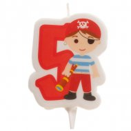 Bougie Pirate 5 ans