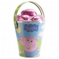 Seau et Oeufs en chocolat Peppa Pig