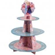 Présentoir à Cupcakes Reine des Neiges Fête Givrée