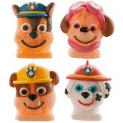 4 Figurines Pat Patrouille en sucre gélifié