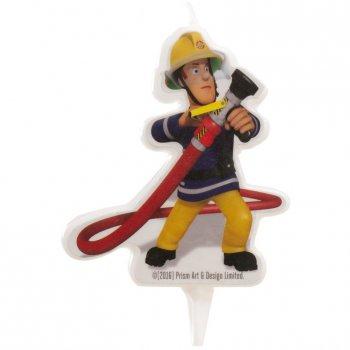 1 Bougie Silhouette Sam le Pompier