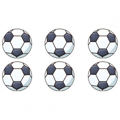 16 Mini Disques Ballon de Foot (3,4 cm) - Sucre