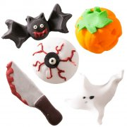 5 D�corations Halloween Horreur en sucre