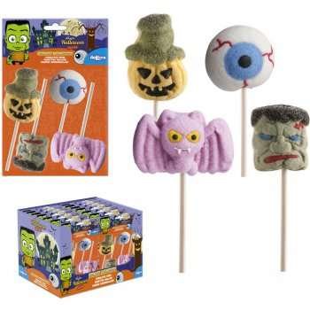 4 Sucettes Marschmallow Halloween