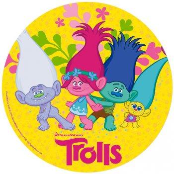 Disque en Sucre Trolls (20 cm)