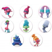 16 Mini Disques Trolls (3,4 cm) - Sucre