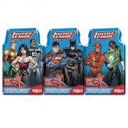 3 Sucettes et poudre p�tillante Justice League + sticker