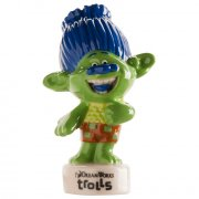 Figurine Trolls Branch vert (6,5 cm) - Porcelaine