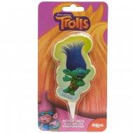 Bougie Silhouette Trolls Branch