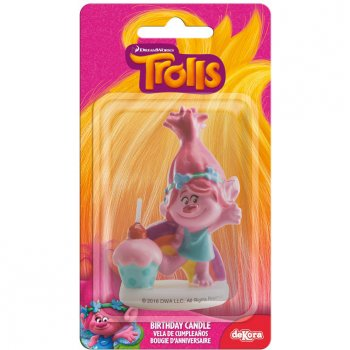 Bougie Figurine 3D Trolls Poppy (rose)