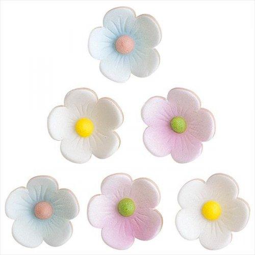 6 Fleurs des Bois en Sucre