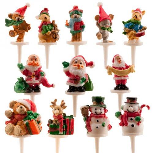6 Pics Décorations Noël (5 cm) - Plastique