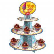 Présentoir à Cupcakes Trolls (46 cm)