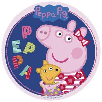 Disque Peppa Pig Bleu foncé (20 cm) - Sucre