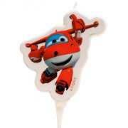 1 Bougie Silhouette Jett Super Wings