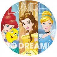 Disque Princesse Disney Dare Dream (20 cm) - Sucre
