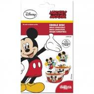 16 Mini Disques Mickey (3,4 cm) - Sucre