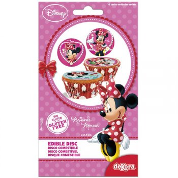 16 Mini Disques Minnie (3,4 cm) - Sucre