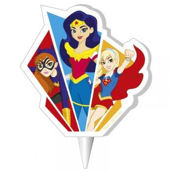 1 Bougie Super Héros Girls (7 cm)