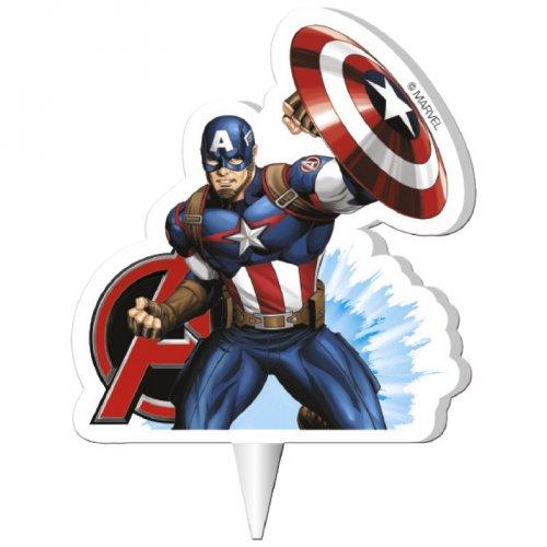 1 Bougie Silhouette Captain America