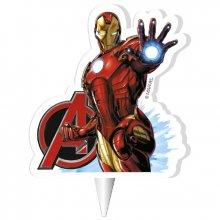 1 Bougie Silhouette Iron Man