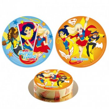 1 Disque Azyme Super Hero Girl (20 cm)
