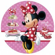Petit Disque en sucre Minnie Gourmande (16 cm )