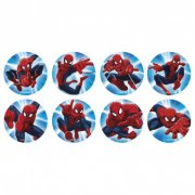 16 Mini disques Spiderman (3,4 cm) - Sucre