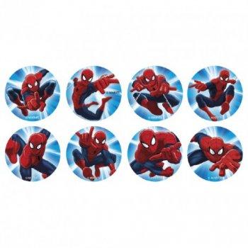 16 Mini disques Spiderman (3,4 cm) - Sucre