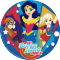 Disque en sucre Super Hero Girls (20 cm) images:#0