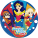 Disque en sucre Super Hero Girls (20 cm). n°1