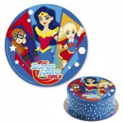 Disque en sucre Super Hero Girls (20 cm)