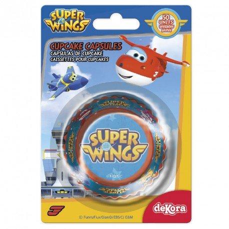 50 Caissettes à Cupcakes Super wings
