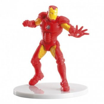 1 Figurine Iron Man sur socle (8 cm) - PVC