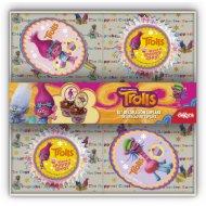 Kit 48 Caissettes + 24 Deco à Cupcakes Trolls