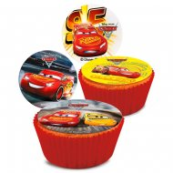 16 Mini Disques Cars (3,4 cm) - Sucre